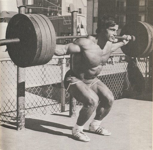Franco Columbu squat