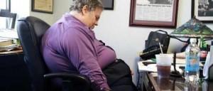 fat office worker
