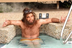 no deodorant caveman