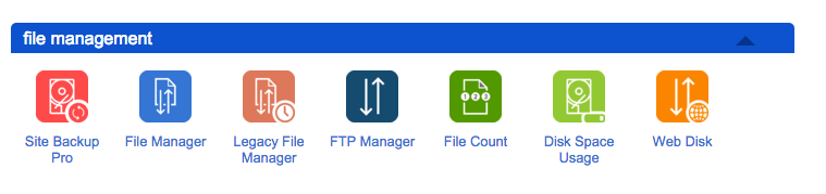 bluehost file manager