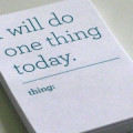 do one thing today pic