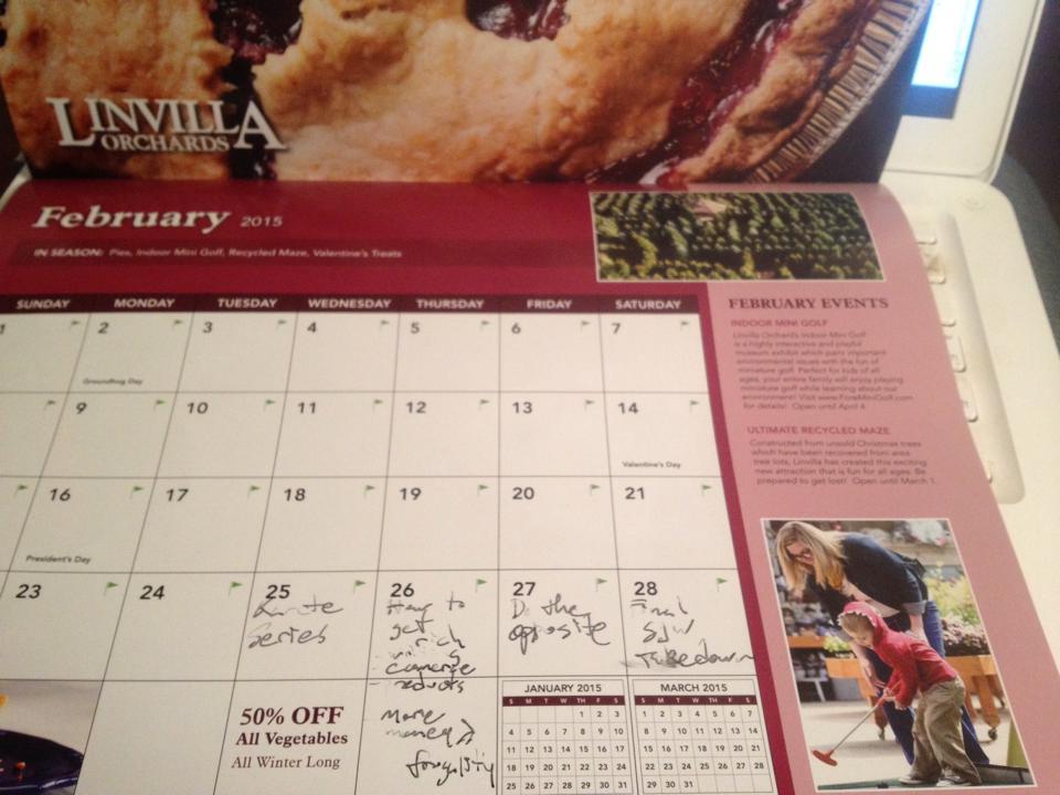 use a calendar