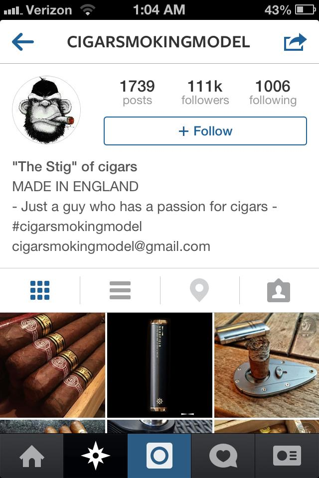 cigar smoking model